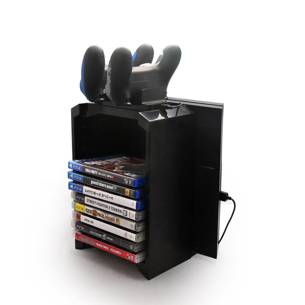 DOBE TP4-025S cd Disc holder and Console stand for PS4 / slim / pro