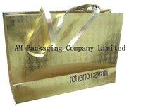 luxury garment packaging paper bag supplier for promotion