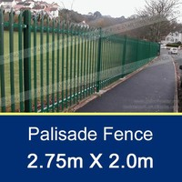 75x75mm Wrought Iron Palisade Fence 2.4x1.8m