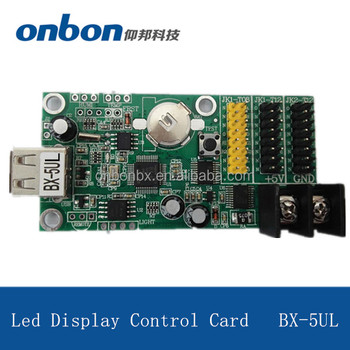 BX-5UL made in china ONBON U disk U flash port led controller display control card for p10 led module for indoor/outdoor
