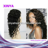 Perfect quality full lace wig for fashion ladies Deep curly human hair wigs for black women