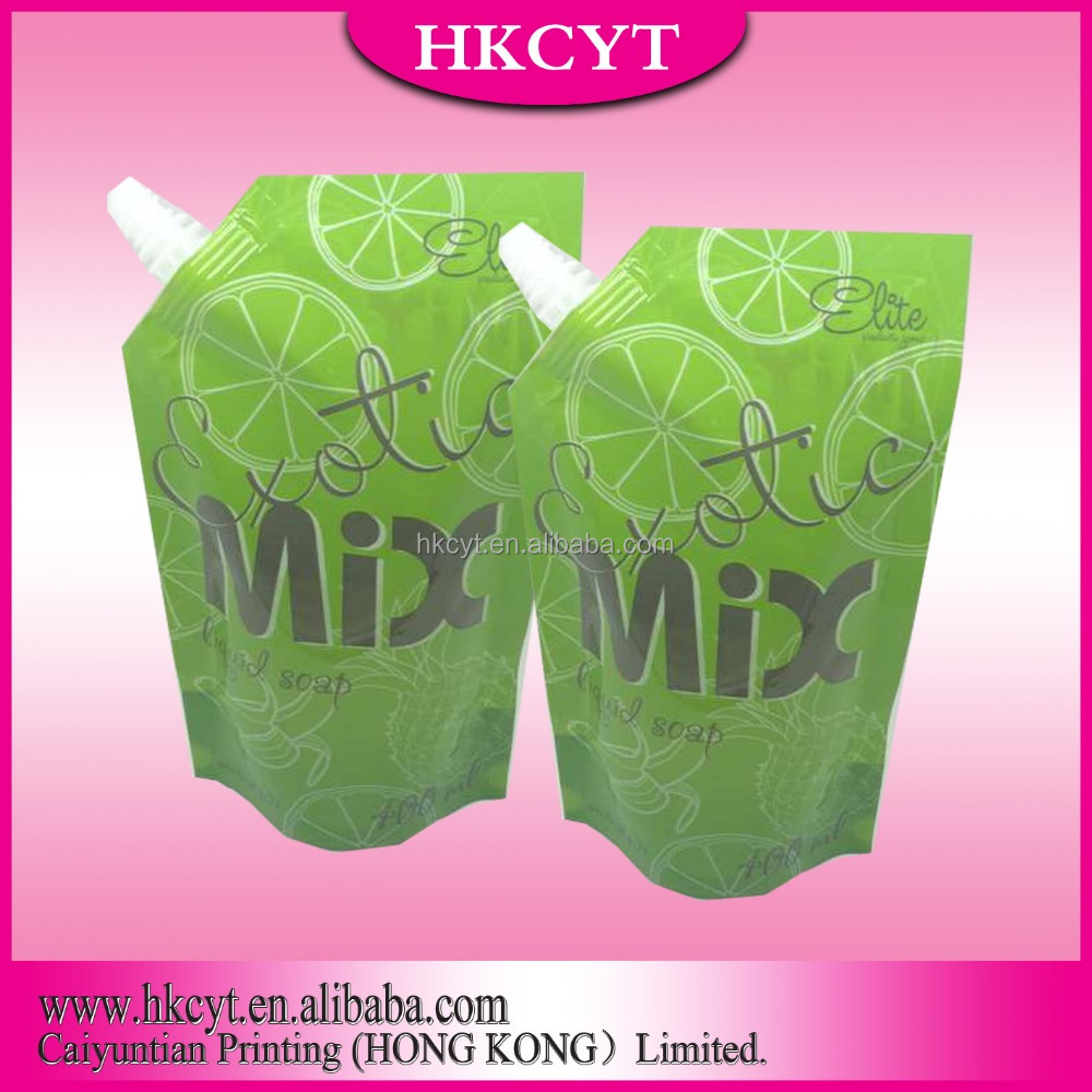 made in china hot high quality/custom/wholesale plastic spout pouch /cosmetics spout pouch