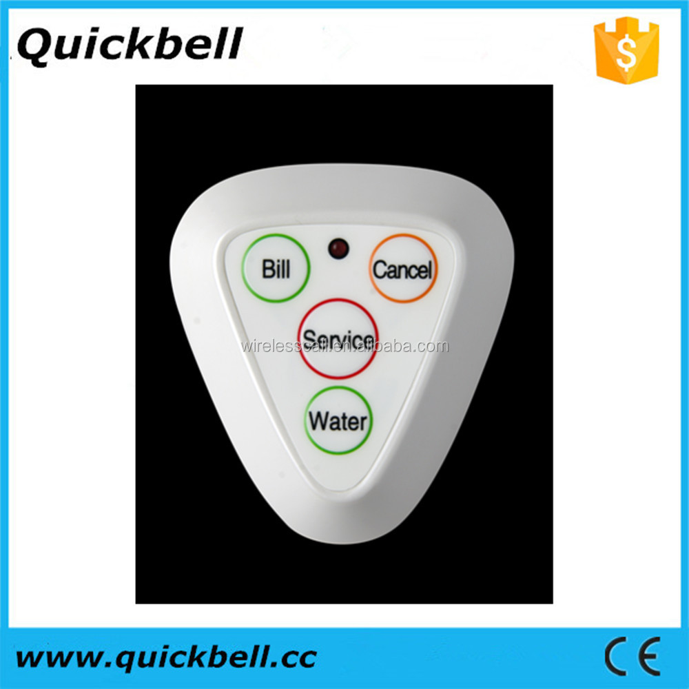 Customer calling systems calling waiter system restaurant pager 433MHz