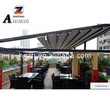 The automatic Pergola Awnings Retractable Awning With Led Lights Fast delivery