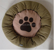 High quality super soft fleece cushion / cozy pet bed with paw embroidery