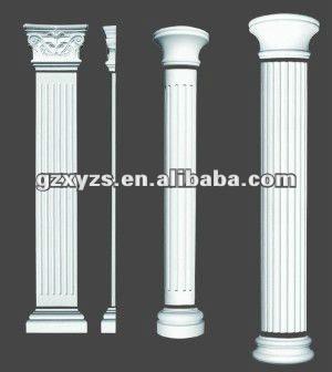 Plaster roman pillars buy roman pillar plaster pillar gypsum column product on - Utilidades del yeso ...
