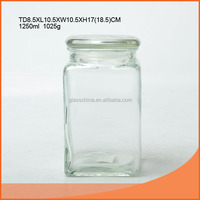 glass jar with glass cover