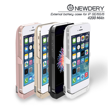 free sample phone case 4200mAh battery charger ,backup battery case for iphone5 with LED light