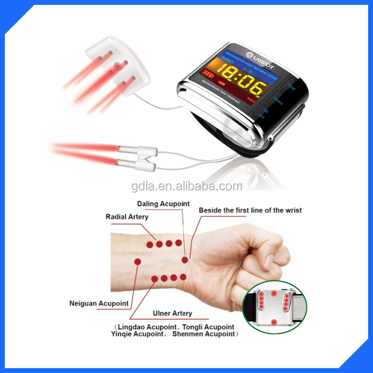 OEM ODM 650nm low level laser therapy watch reducing high blood sugar/ high blood fat/high blood pressure