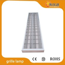 Aluminum sheet enclosure recessed grid fluorescent t8 louver fitting grille lamp