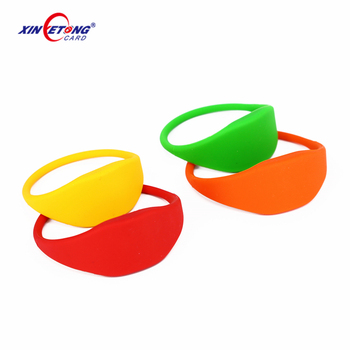13.56Mhz colorful waterproof F08 RFID silicone wristband
