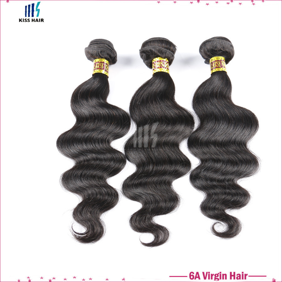 "Brazilian Body Wave Virgin Hair 10-28"" 3pcs Kiss Hair Weave Virgin Brazilian Hair Bundles Brizilian Body Wavy Hair Free Shipping"