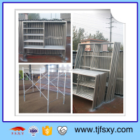 Built Strong and Tough Galvanized Metallic Ladder Scaffolding