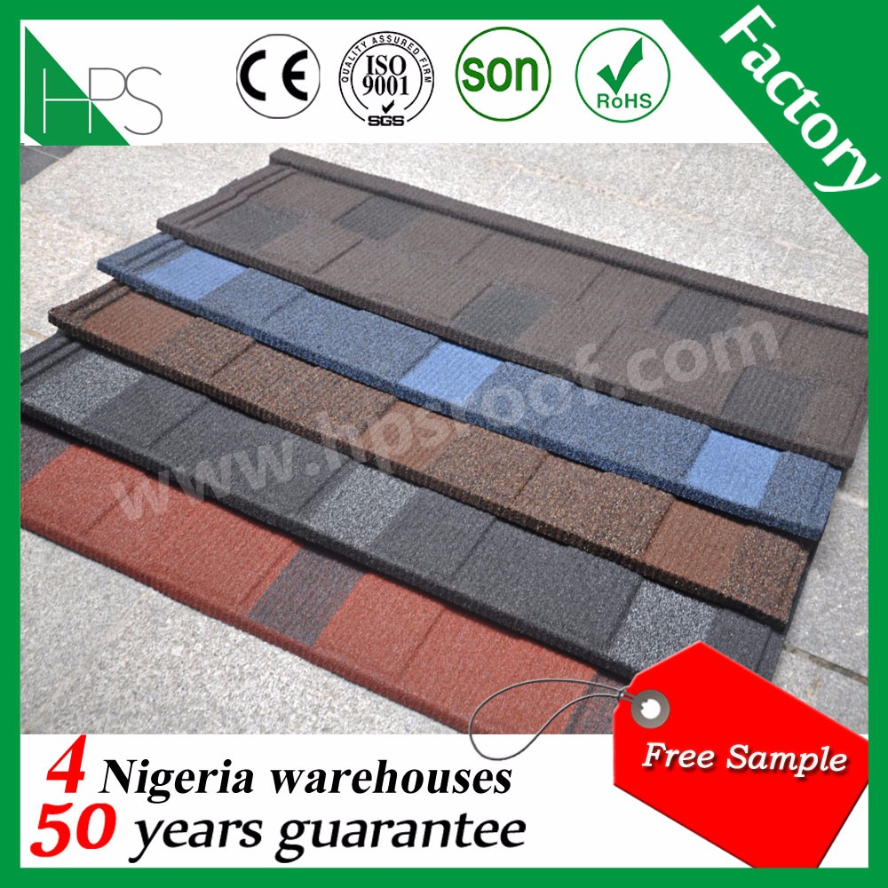 House roof model cheap prices stone coated metal roofing tile