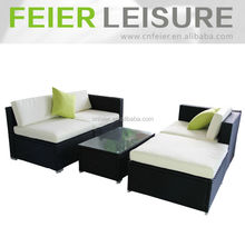 Rattan l-shape sofa outdoor rattan sofa