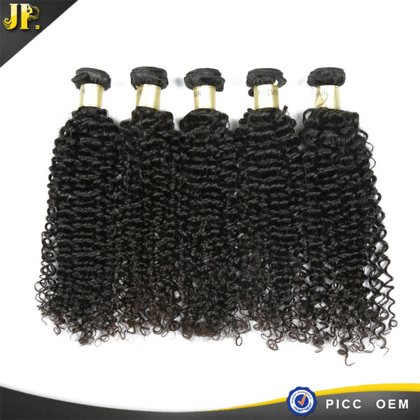 JP Buy 3 get 1 free natural color good 4a grade curly indian hair