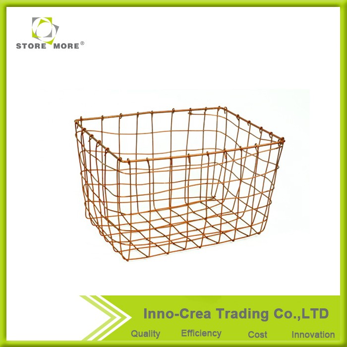 High Quality Weaving Pattern Cheap Wire Basket