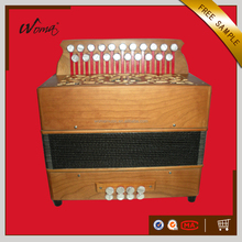 High Grade 21K8B Diatonic Wood Button Accordion With Cagnoni Reeds