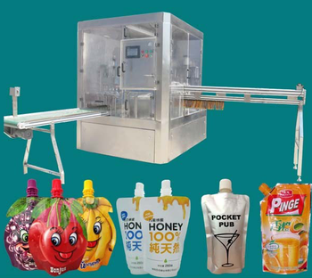 fruit jelly pouch filling capping and packaging machine