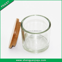 Highly Dome Top Glass Candle Jar With Glass Lid