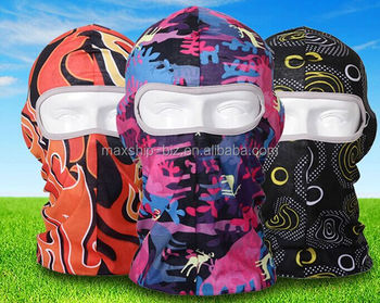 Sublimation custom printing microfiber balaclava for promotional gift