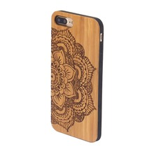 New style pure bamboo wood customized cell phone case for iphone7 plus