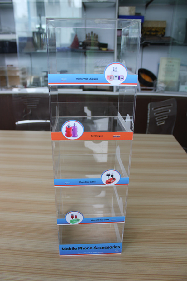 New 2014 Product idea Acrylic Mini ipad Accessories Displays Phone Charger Stands Rack Supplier