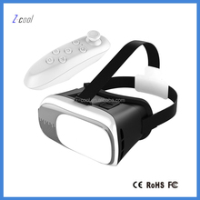 Cheap price vr box 2.0 virtual reality vr headset with remote 3x video full hd