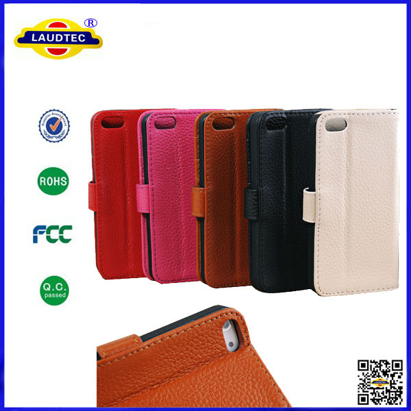 for iPhone 5s Real Leather Wallet Case, Flip Leather Case for iphone5s