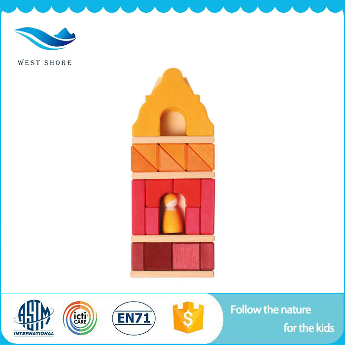 Good Price Wooden Blocks For Kids Small House Toy House With Good Price
