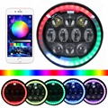 Bluetooth App Control 5.75''  RGB 5 3/4 inch led Sealed Beam Motorcycle Headlight