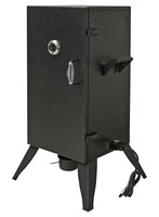 "30"" Electric Vertical Box Smoker Grills with Adjustable Temperature Control for Tight Woody Flavor BBQ Cooking Appliance"