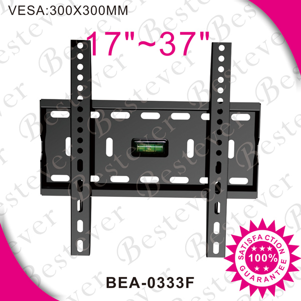 single side slim fixed flat panel adjustable height tv bracket made in China