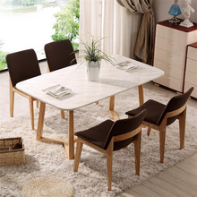 Factory price modern wood table and chair for restaurant