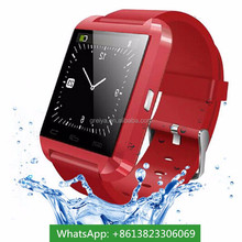 Hot selling trendy led cheap waterproof android watch phone factory u8