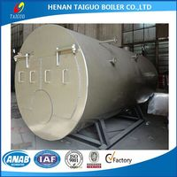 Horizontal fire tube oil/gas fired hot water boiler