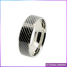Stainless Steel perfect design knuckle ring engraved IP Black rings for men