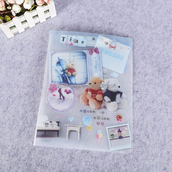 pp hard plastic clear pages B4 size display folder presentation file folder plastic display book