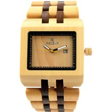 2017 newest redear bewell watch design wholesale square Wood watch custom logo fashion leather wrist watch oem your logo