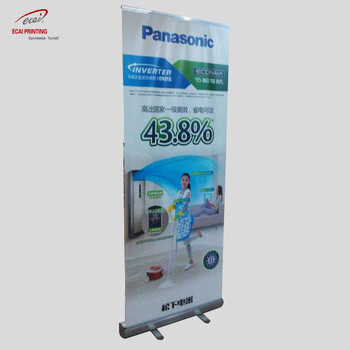 Promotional pull up banner, roller stand, roll up size 100x200cm display banner