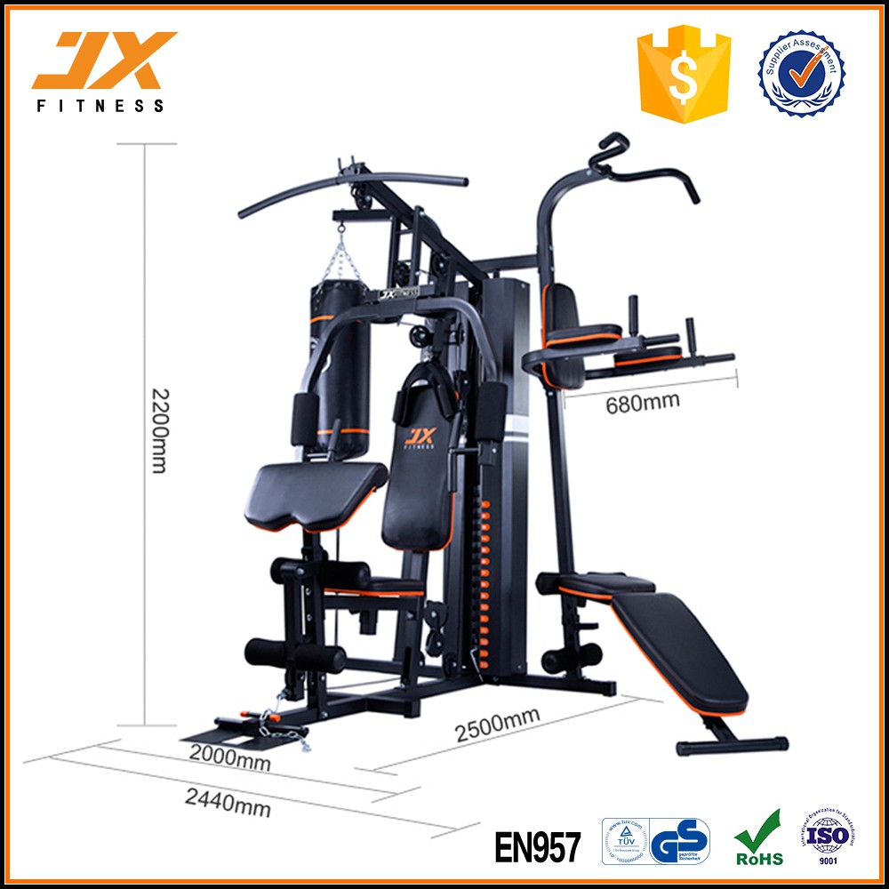 JUNXIA 2018 Hot Sale 3 Estação Home Gym Indoor Equipamentos de Ginástica Do Edifício de Corpo