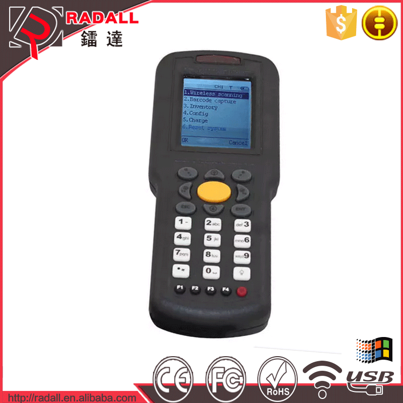Trade Assurance RD 9800 32bit wireless data collector handheld code bar scanner upload data to excel with keyboard