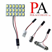PA WHITE 18 SMD 5730 LED PCB Panel Car Interior Reading Dome Map Board Light