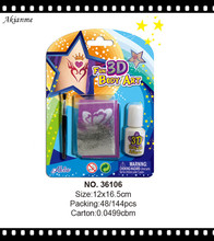 High quanlity set body use neon uv reactive body paint