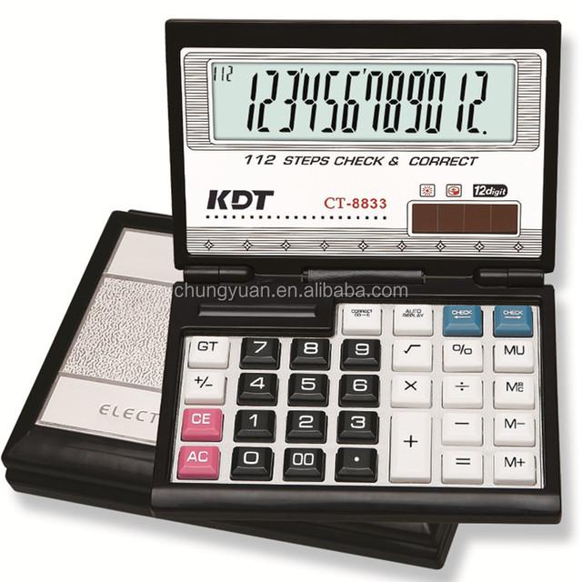 Business partner solar energy 12 digits folding desktop calculator