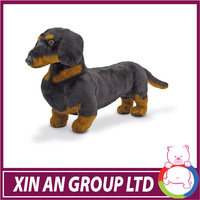 EN71/ASTM Hot selling good quality soft black dog plush toy in 2015 for boy
