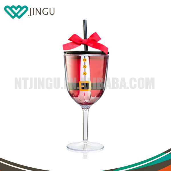 Plastic Double Wall Glass cup,Goblet, Glassware