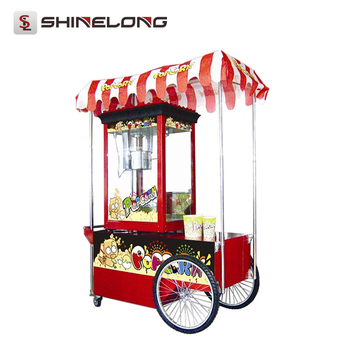 CE Professional Flavored Commercial Popping Popcorn cart for sale