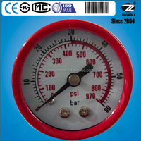 Y-40D steel case phosphor bronze movement axial mounting for customized dial plate factory pressure gauge