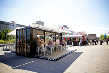 Coffee shop container house, Temporary restaurant serving facilities, shipping container